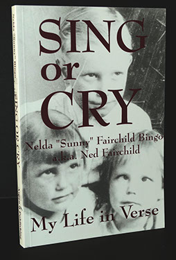 black and white picture of Sing or Cry soft cover book